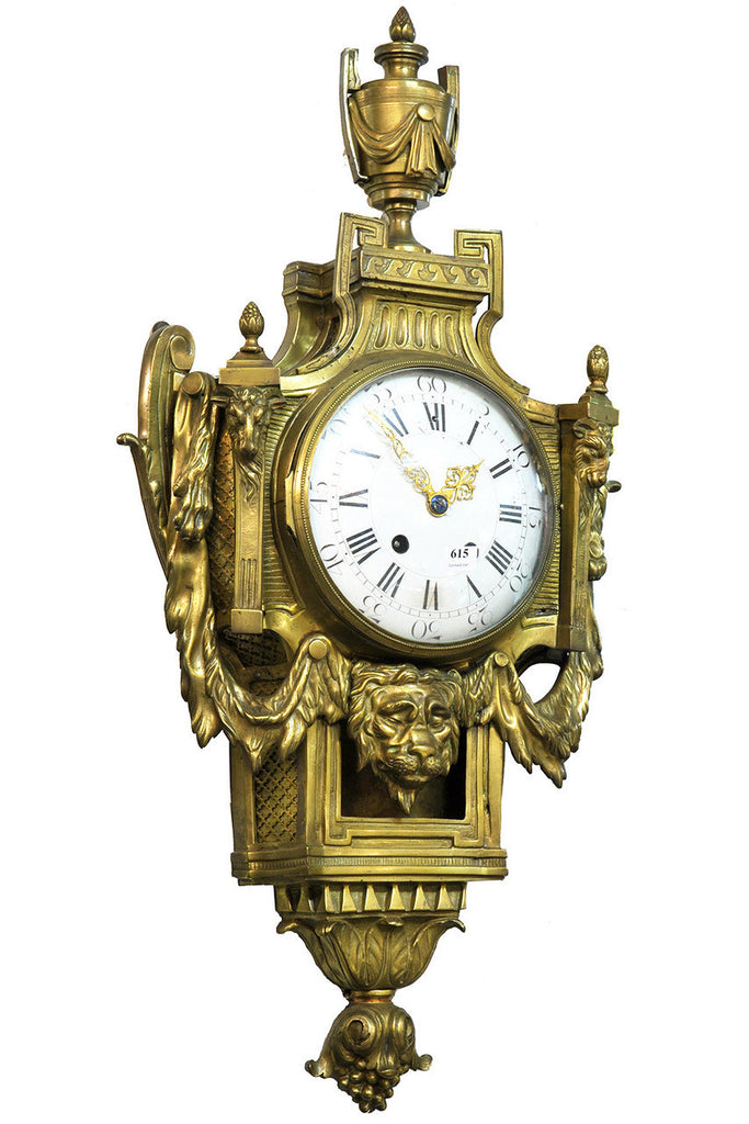 A French 19th Century Brass Cartel Clock