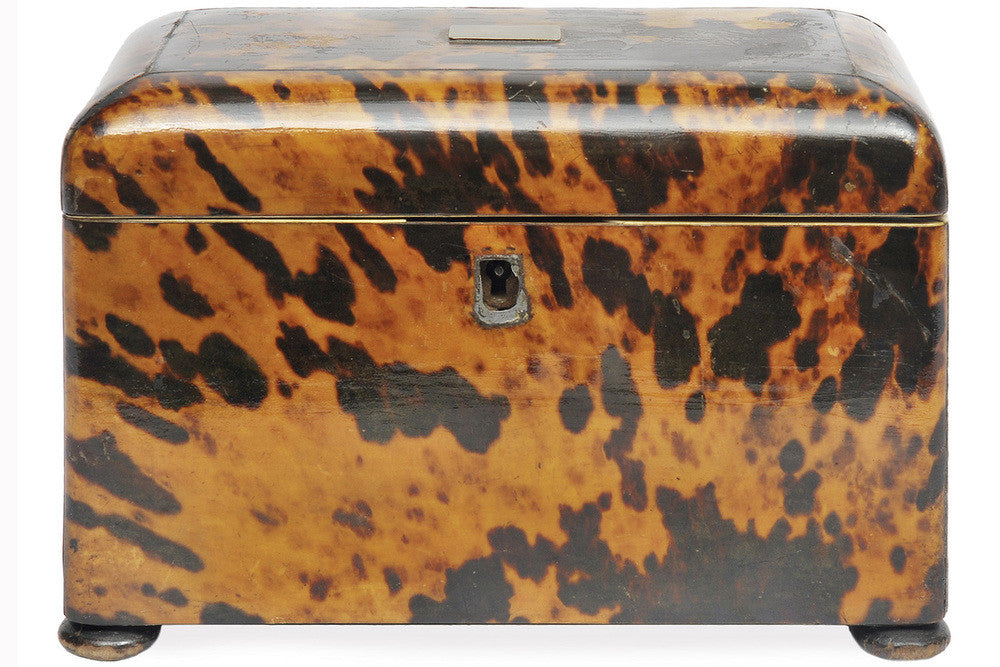 A Tortoiseshell Tea Caddy, 19th Century