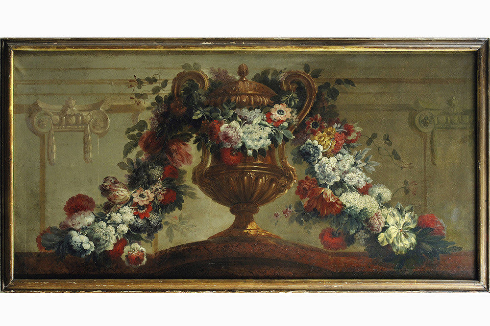 A French 18th Century Floral Still Life with Urn