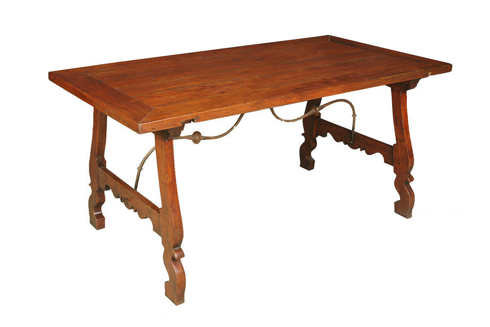 A Spanish Style Churresque Base Dining Table