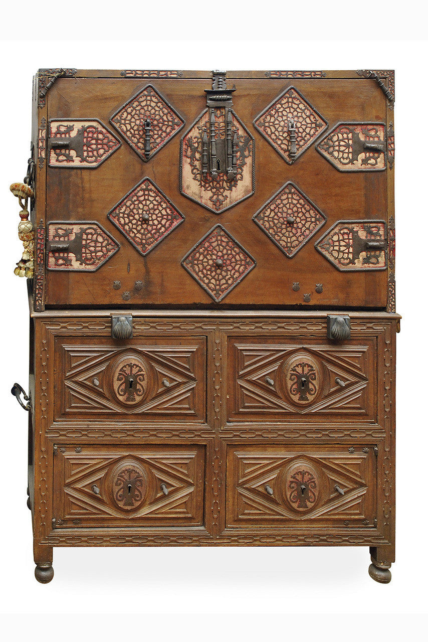 A 17th Century Spanish Walnut Vargueno