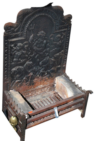 A Cast Iron Fire Grate