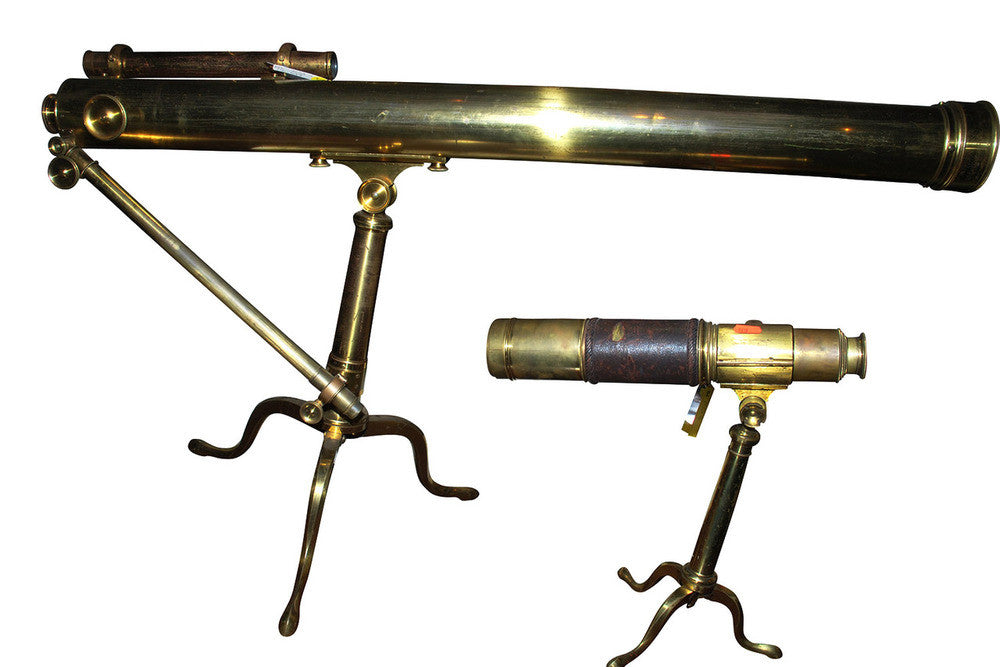 A Collection of 19th Century Brass Telescopes