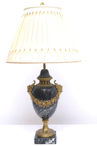 A Pair of French Gilt Bronze Mounted Marble Lamp Bases
