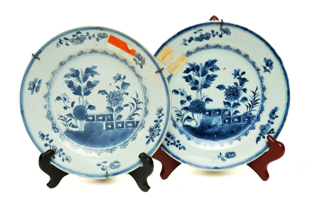 A Pair of Two Chinese Plates, Late 17th Century
