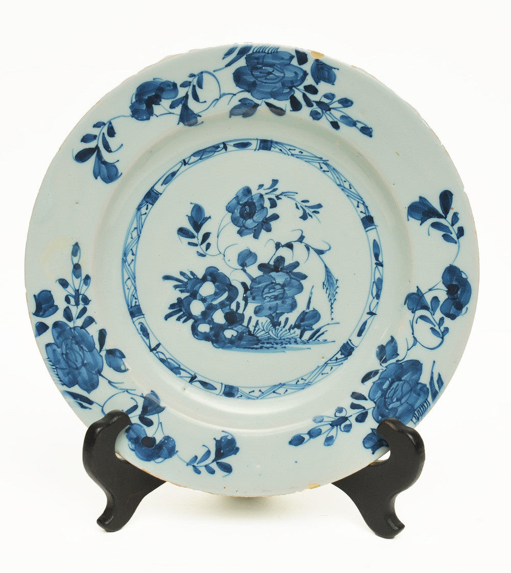 A Chinese Blue and White Delft Ware Plate
