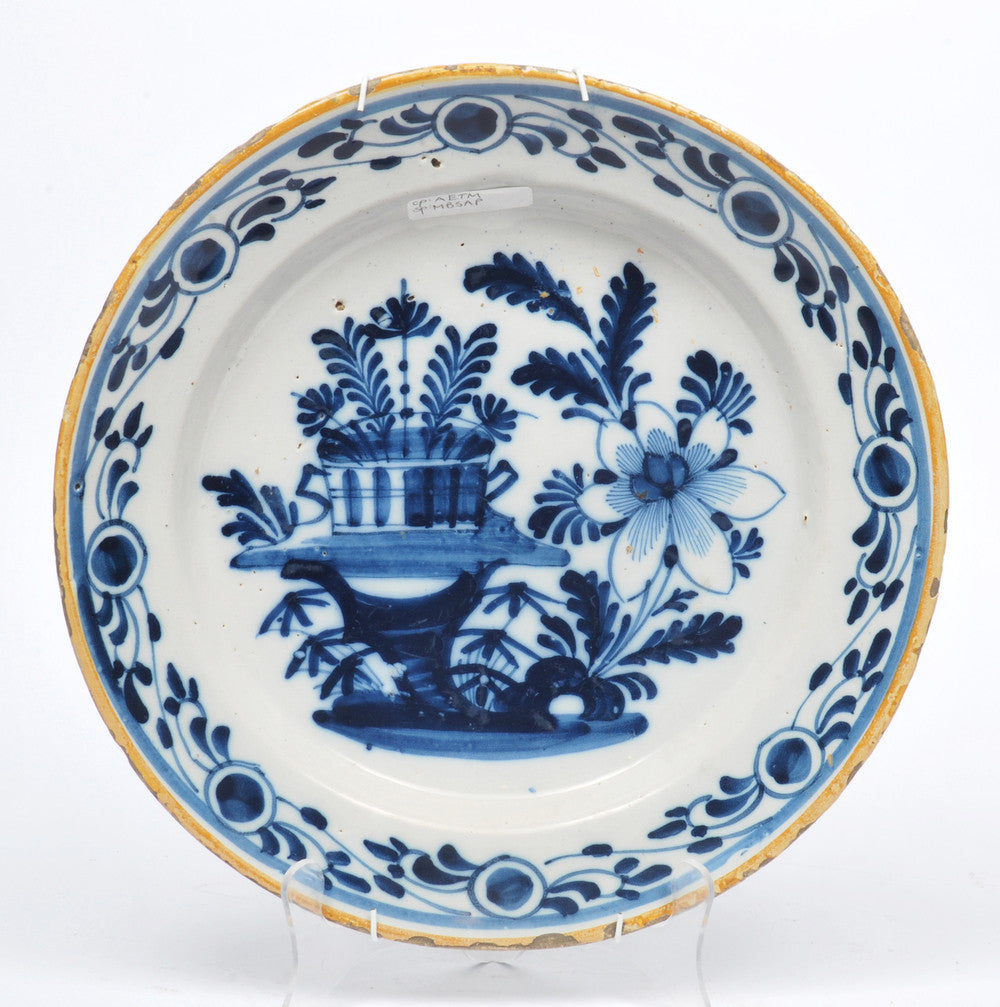 A Delft Blue and White Charger