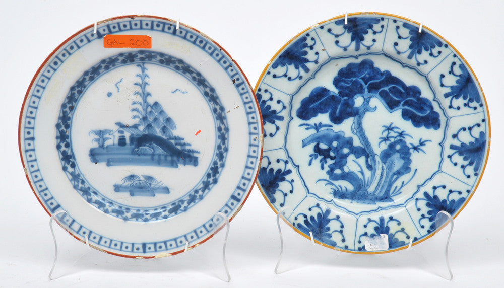 A Pair of Small Delft Blue and White Plates
