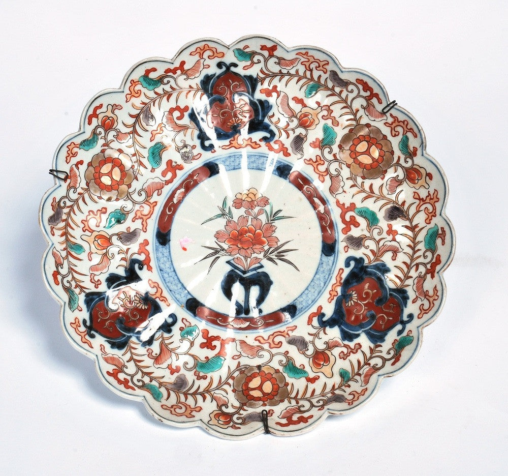A Scallop Edged Imari PLate, 19th Century