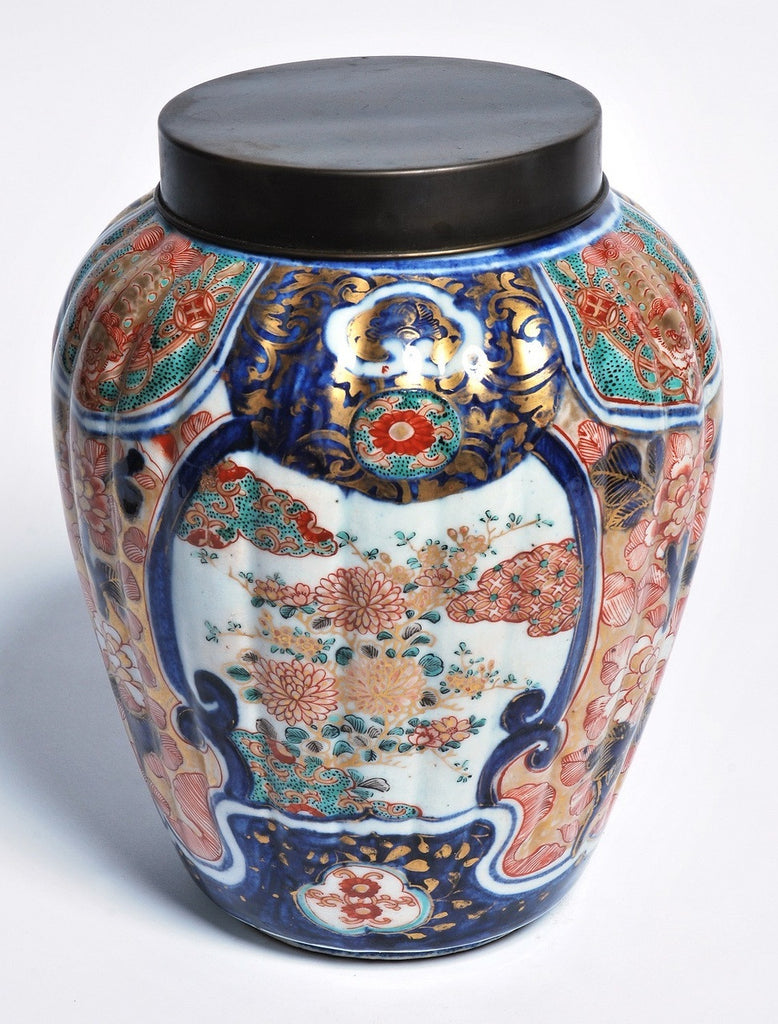 A Chinese Imari Ridged Jar, 19th Century