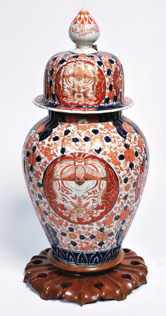 A Large Imari Covered Vase, 19th Century