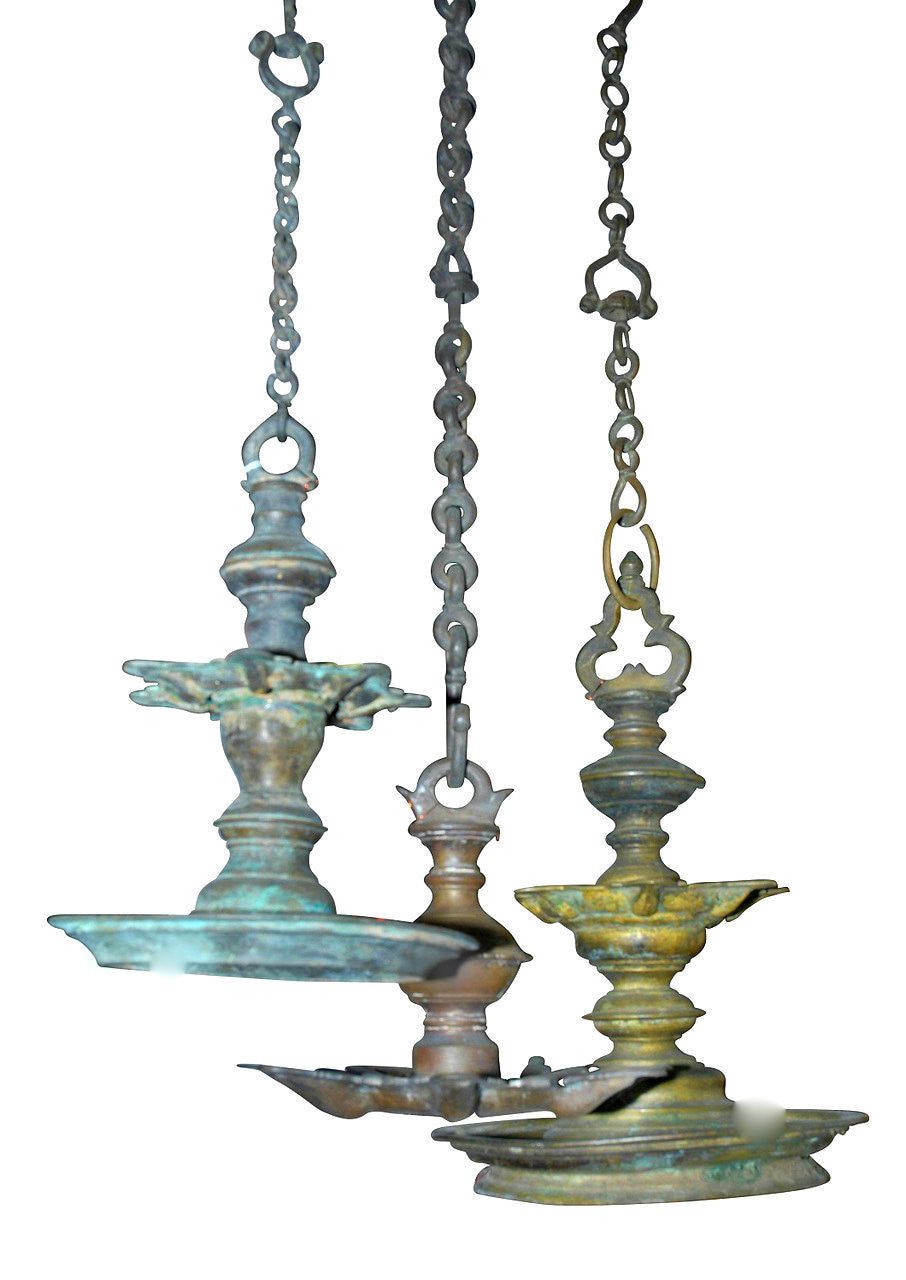 A Set of Three 17th Century Indian Hanging Lanterns