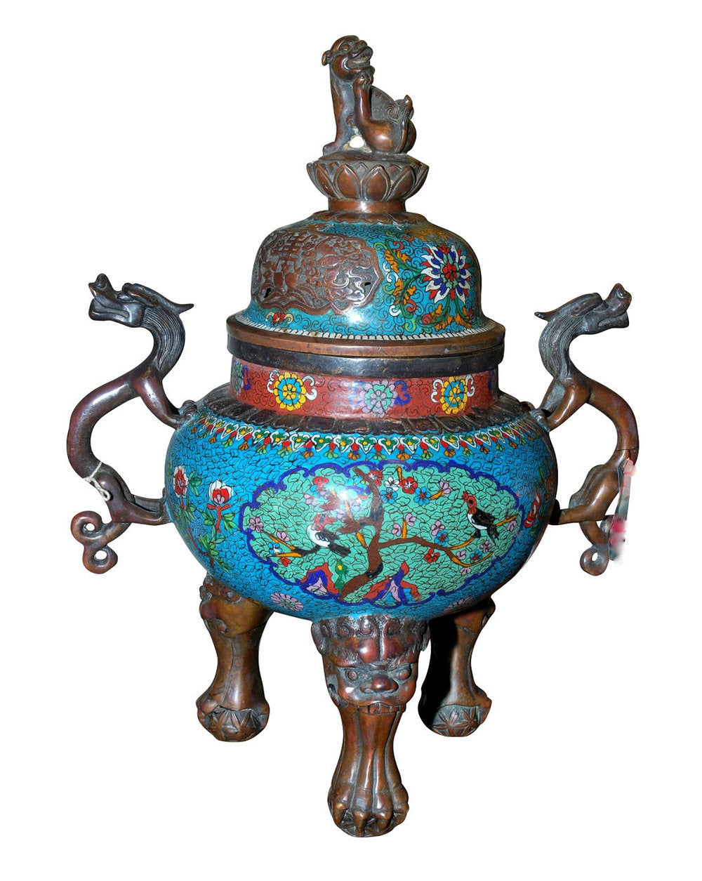 A Chinese Cloisonne Censer