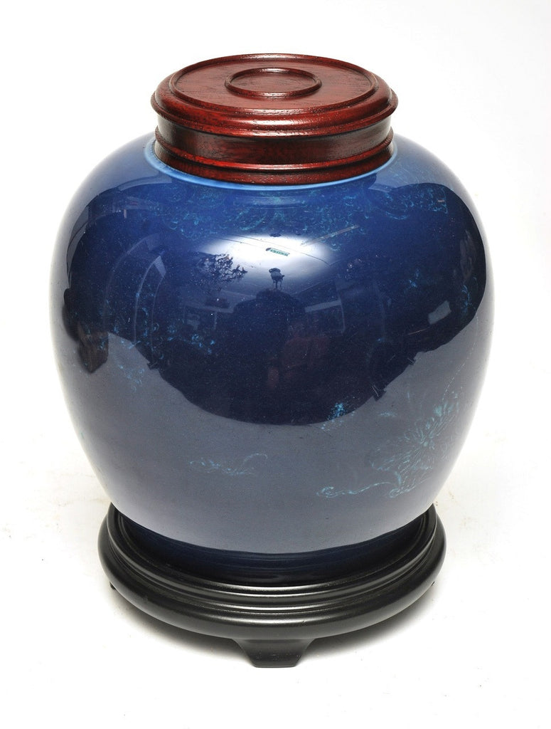 A Chinese Blue Ginger Jar, Qing Dynasty, circa 19th Century