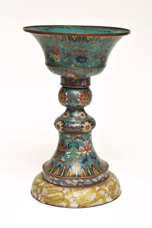 A Set of Four Cloisonne Vases