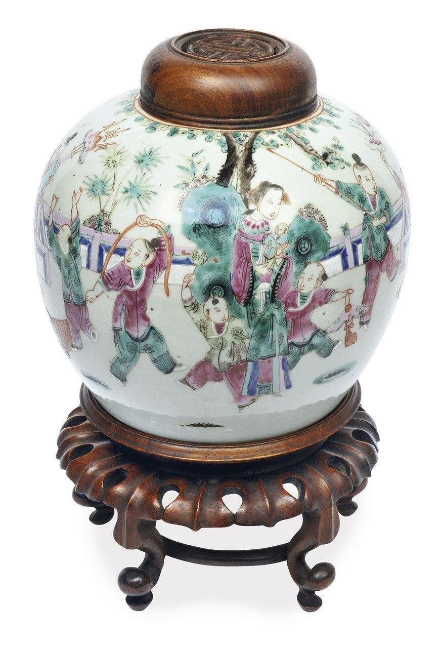 A Chinese Famille Rose Jar, Yongzheng Mark