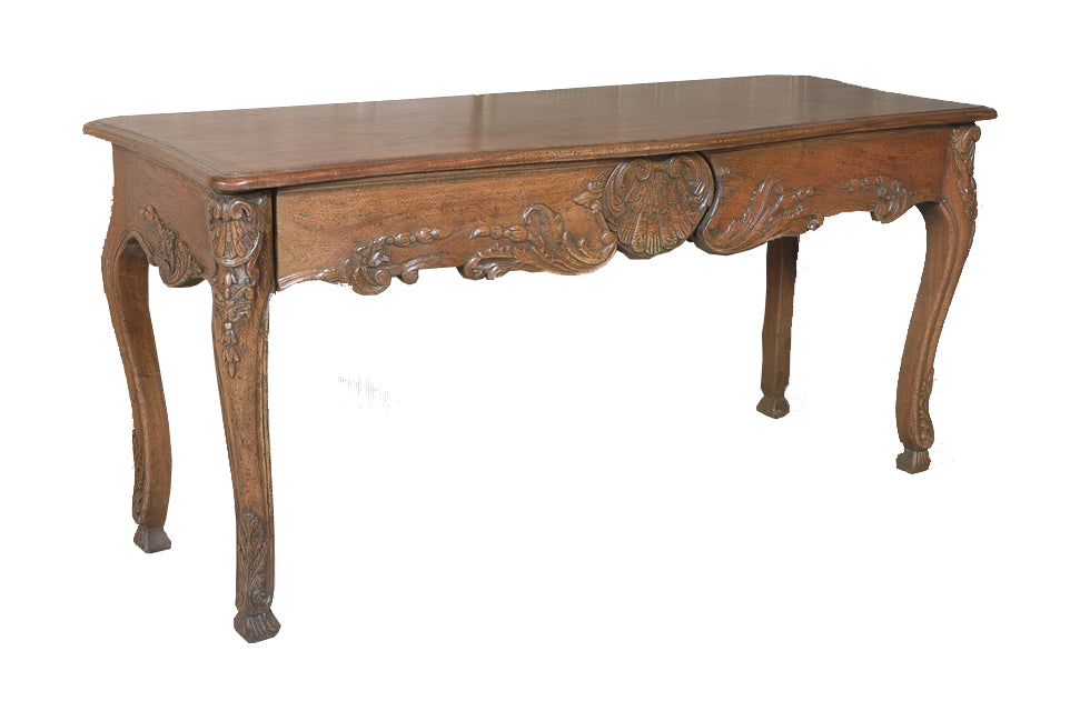 A Two Drawer Regence Style Console