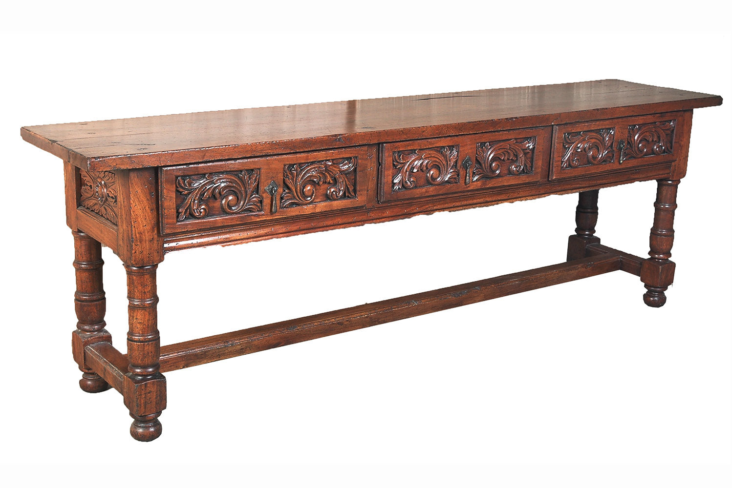 Three Drawer Acantus Leaf Console