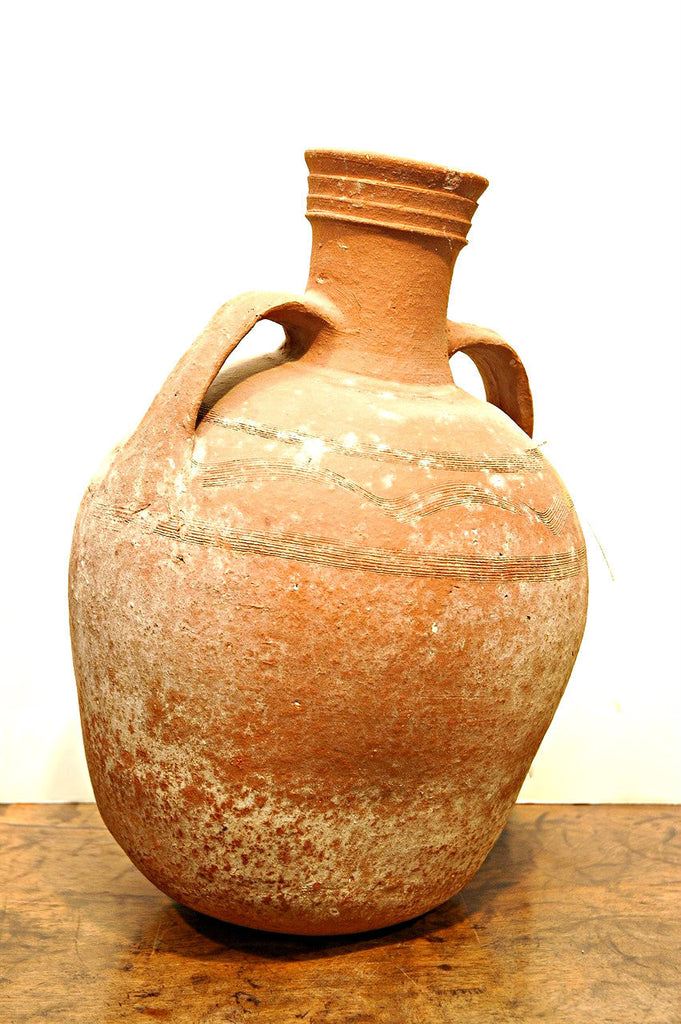A Cypriot Amphora with Incised Decoration. circa 8th Century B.C