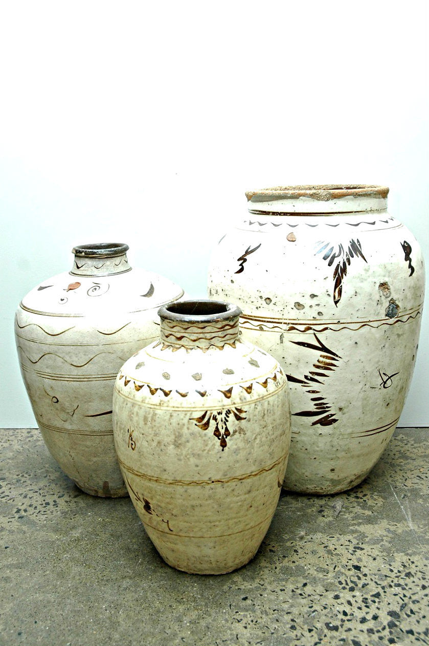 A Collection of Chinese Grain Jars, Ming Dynasty