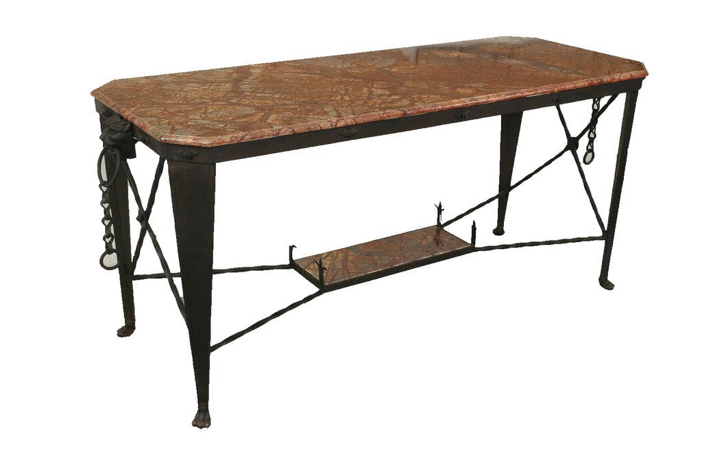 A Marble Top Directoire Style Console