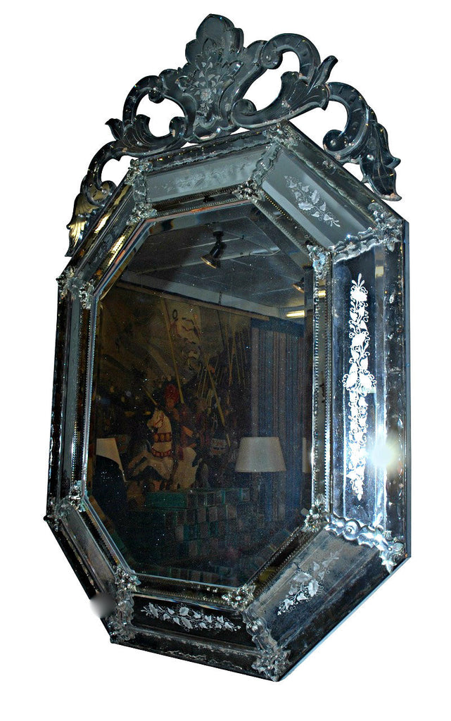 A Pair of Venetian Cushion Front Mirrors.