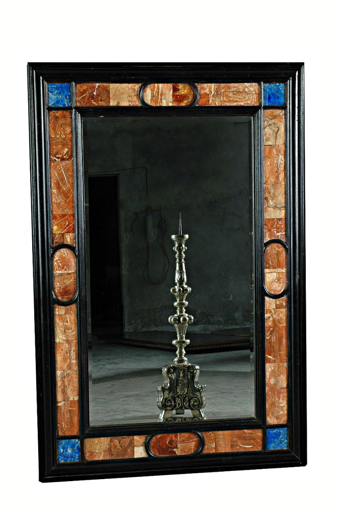 An Italian Style Framed Mirror with Stone Inlaid