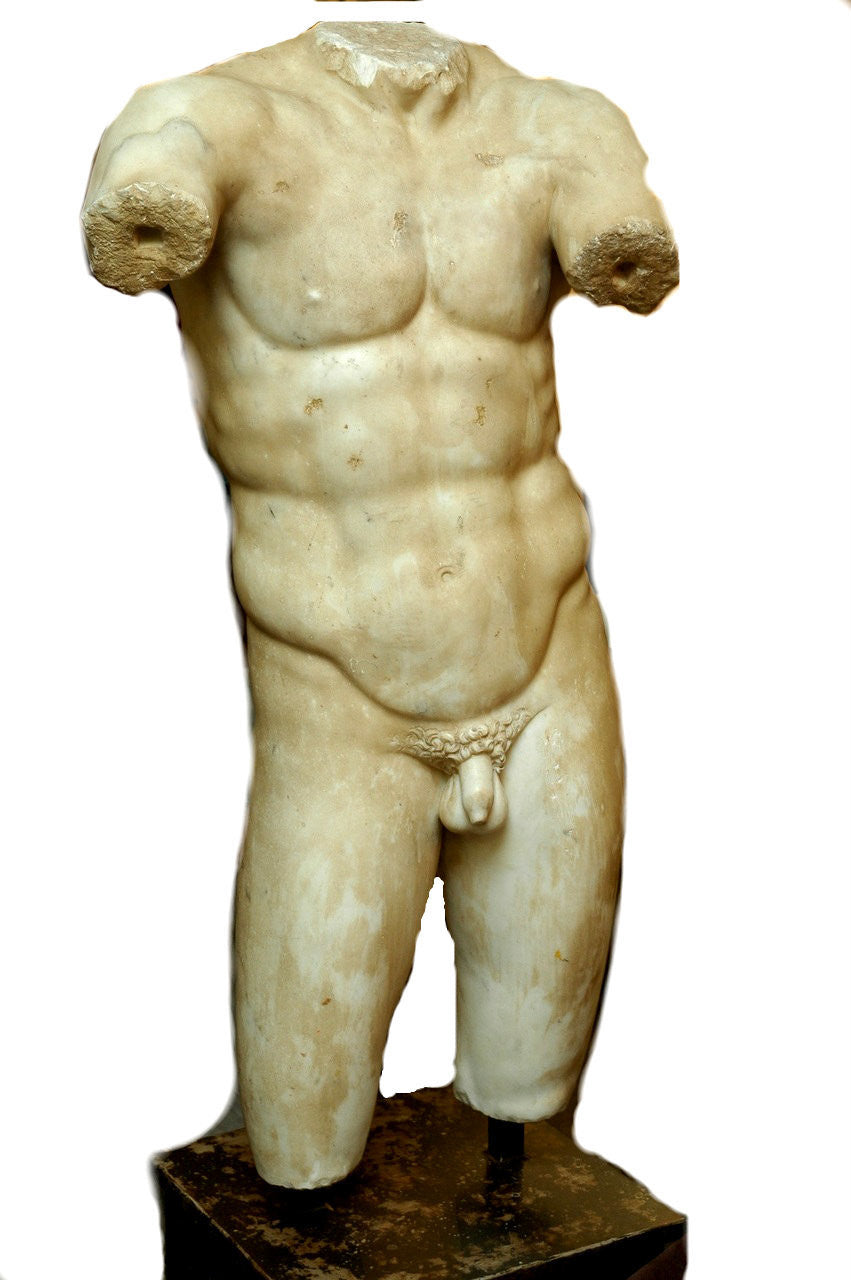 A Large Roman Marble Figure of a Male