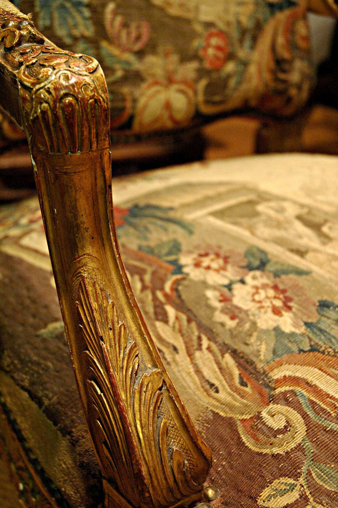 A Pair of Louis XV Tapestry Armchairs