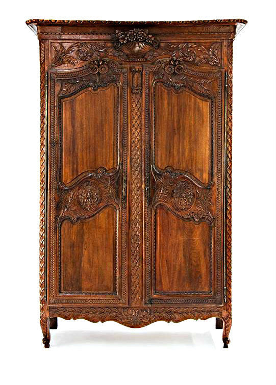 A Fine Oak French Provincial Armoire, 19th Century