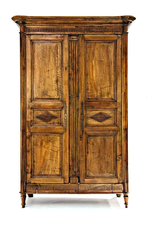 A Large Carved Walnut French Armoire, Early 19th Century