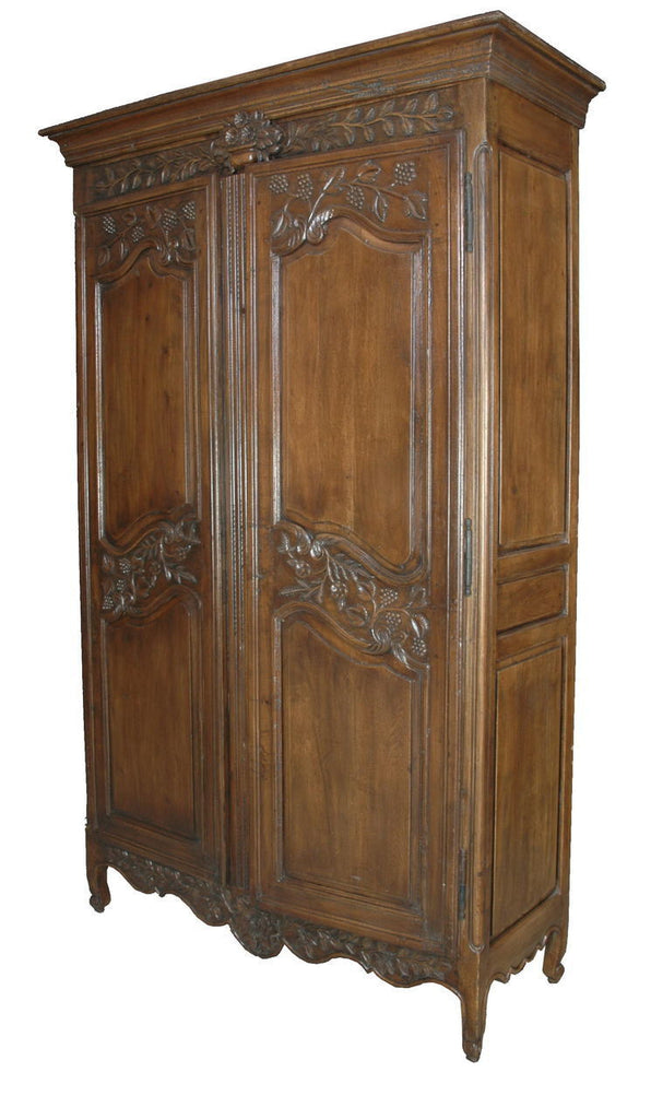 A French Style Two Door Timber Armoire.