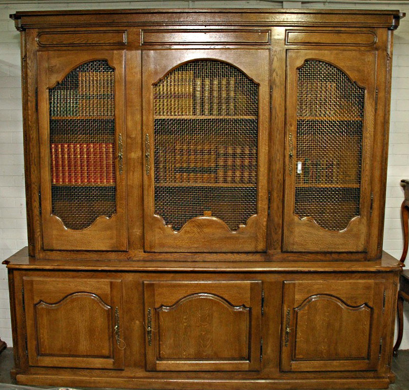 A Large 18th Century French Provincial Style Bookcase
