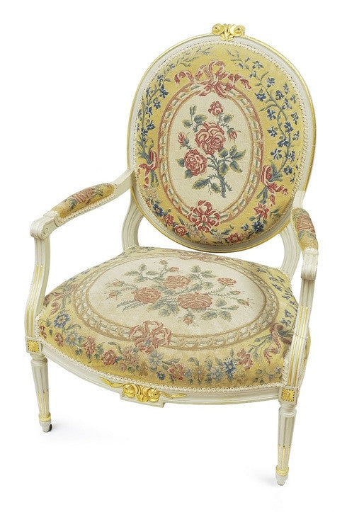 A Set of Four French Louis XVI Armchairs