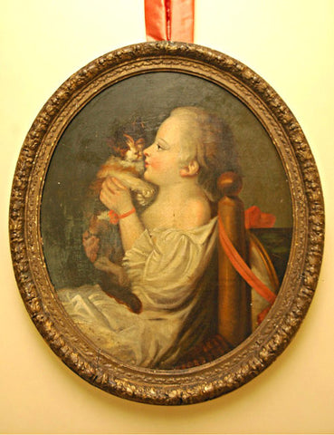 A Late 18th Century Oval Painting