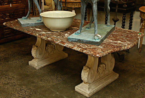 An Italian Stone and Marble Table