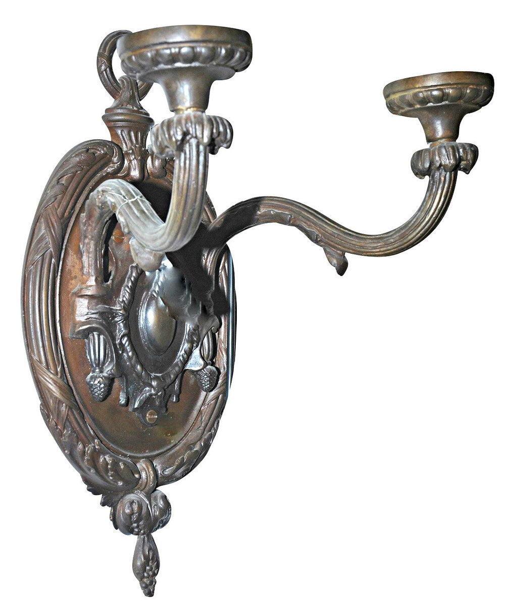 A French Empire Style Cast Bronze Wall Sconce