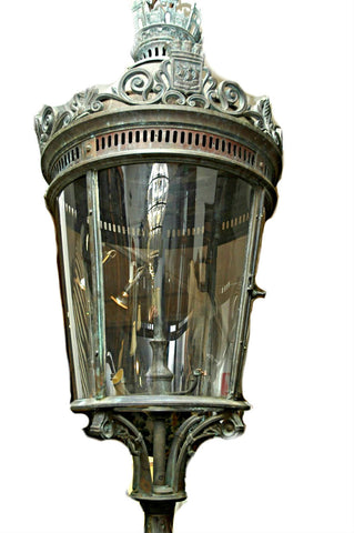An Important Bronze Cast 19th Century Style Lantern