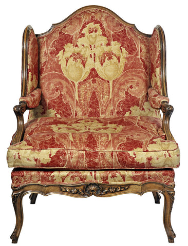 A Louis XV Style Walnut Framed Armchair.