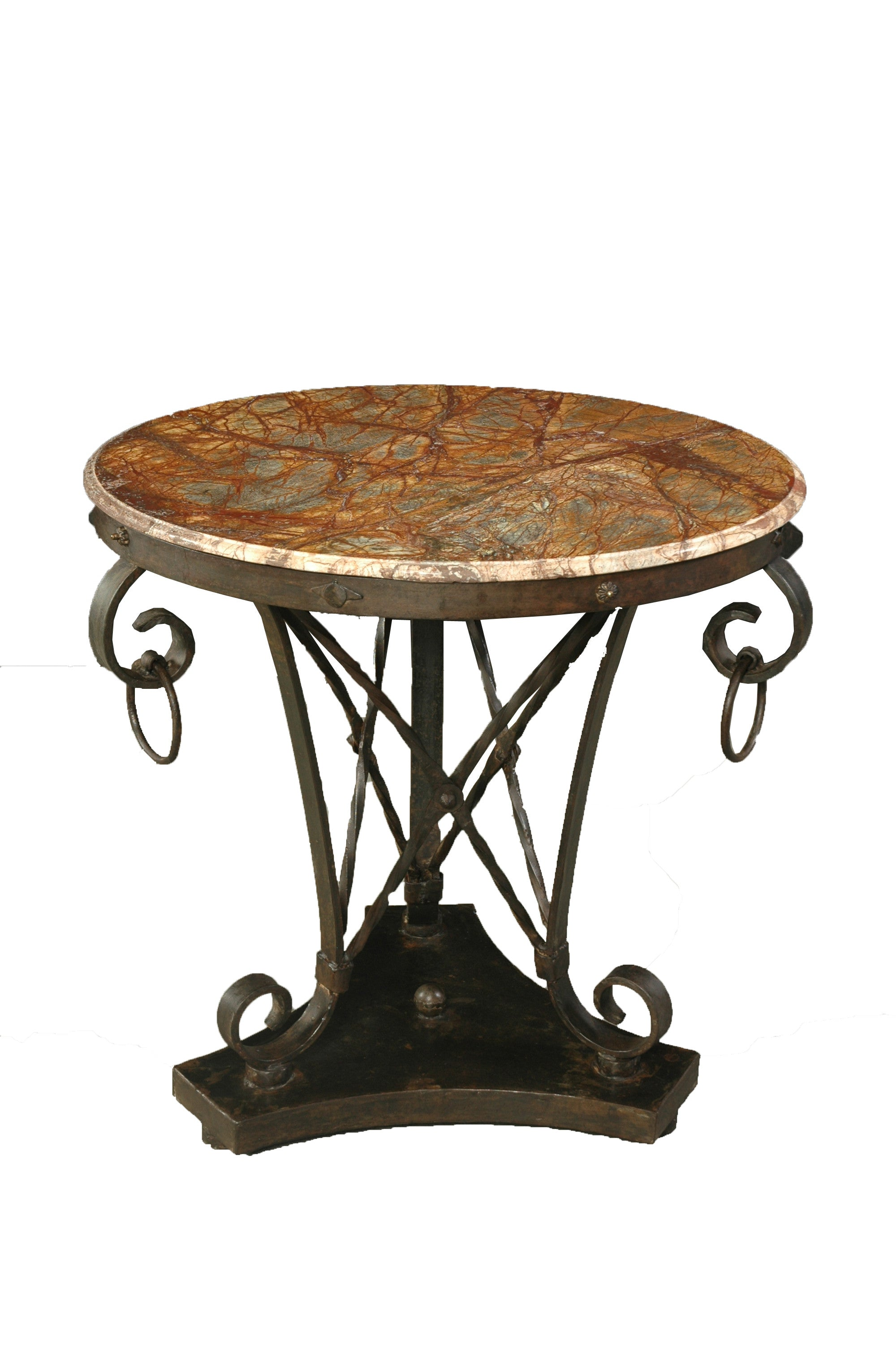 A Round Table with Iron Base