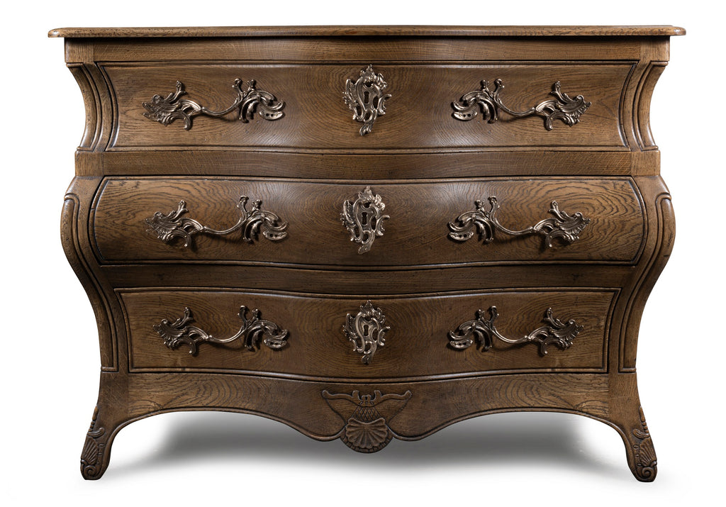 A Oak Louis XV Style Bombe Commode