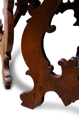 A Spanish 17th Century Carlos II Style Dark Walnut Hexagonal Centre Table