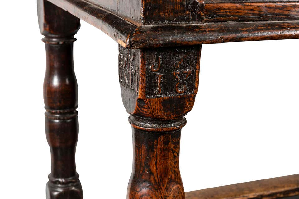 An Early 18th Century English Oak Refectory Table