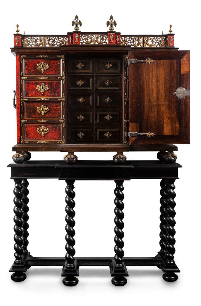 An Austro-Hungarian Late 17th-Early 18th Century Palisander Cabinet on Stand