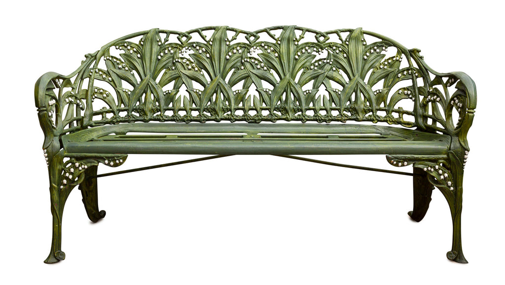 Cast Iron Lily of the Valley Bench