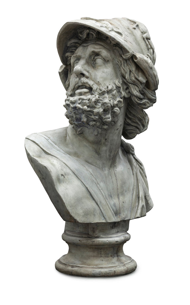 Stone Composite Bust of Menelaos