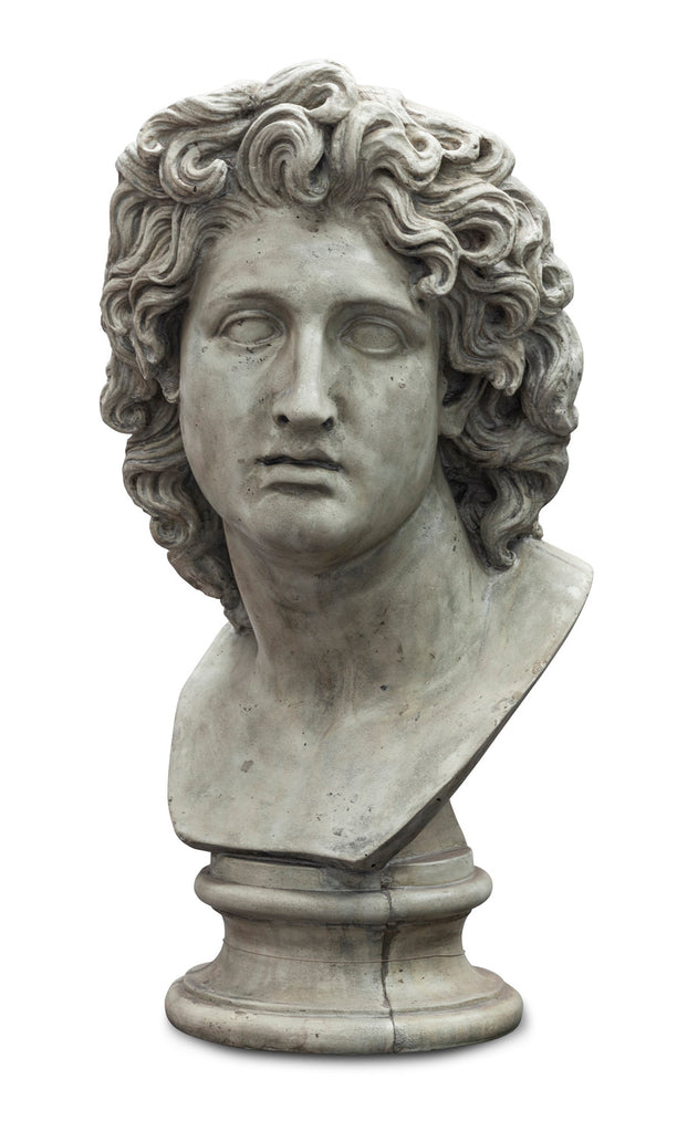Stone Composite Bust of Alexander