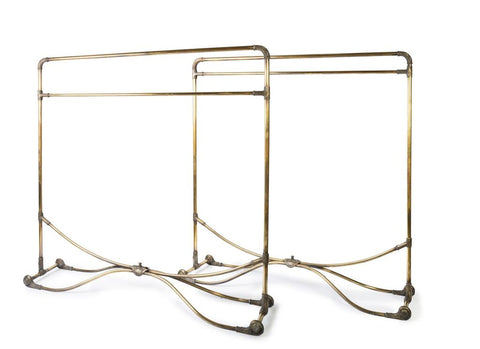 Pair of Antique French Bronze Garment Racks