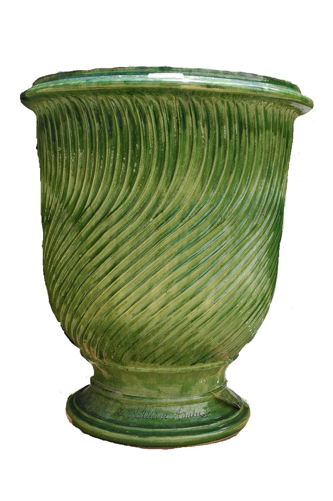 The Striated Glazed Terracotta Anduze Pots