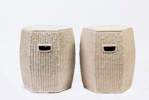 A Pair of Ceramic Stools